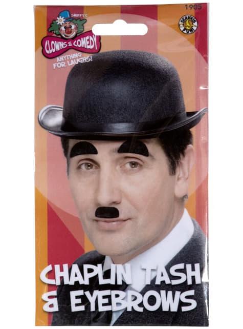 Bigote y cejas de Chaplin - para tu disfraz