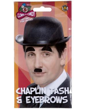 Chaplins Bart und Augenbrauen