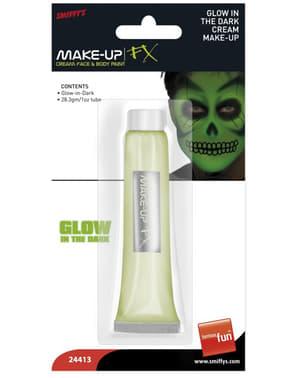 Maquillaje de brillo en la oscuridad