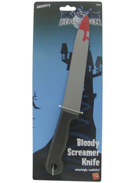 Cuchillo manchado de sangre
