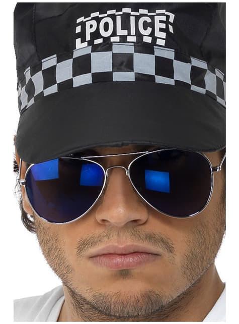 Lustrzane okulary lotnika niebieskie