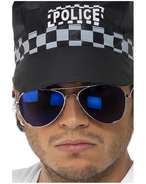Blue tükrözött Aviator napszemüveg