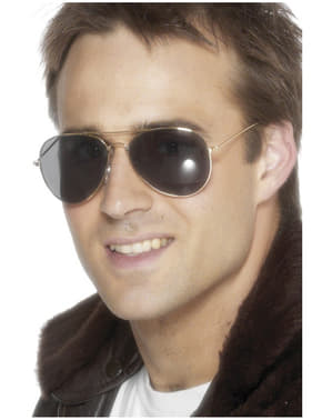Goudkleurige pilotenbril