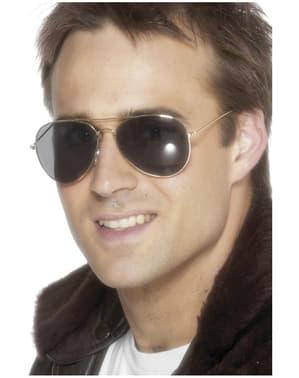 Gyldne Aviator Solbriller