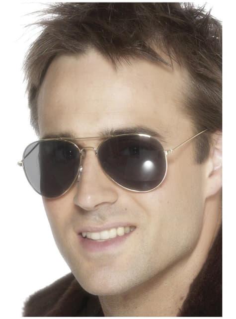 Okulary pilotki posrebrzane