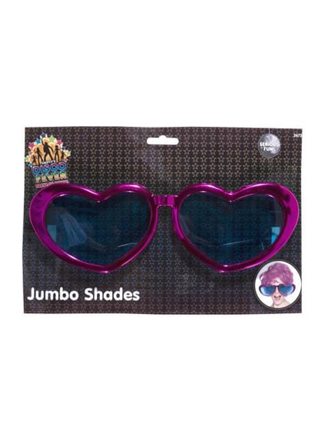 Óculos grandes com forma de coração