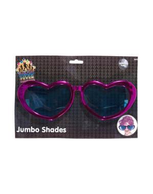 Store hjerteformede briller