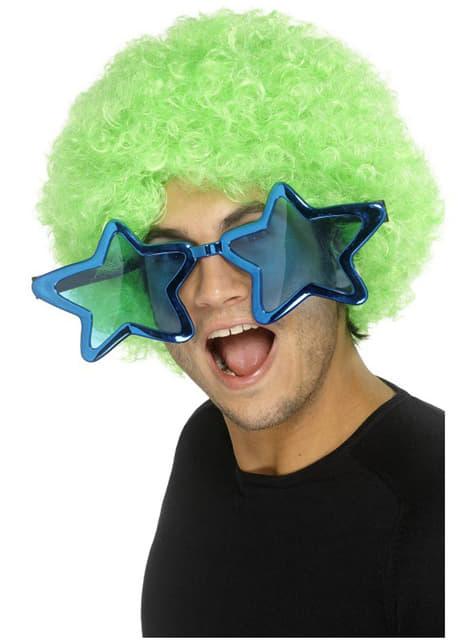 Stora stjärnformade glasögon