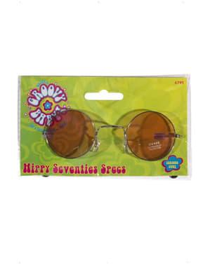 Óculos hippie dos setenta