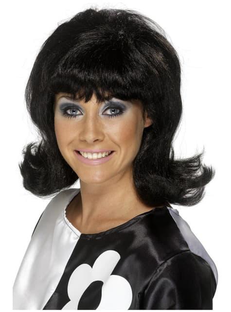 Puszysta peruka z lat 60 czarna