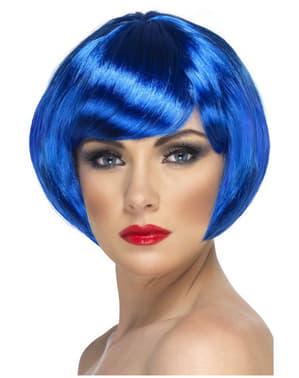 Sininen polkkatukka-peruukki