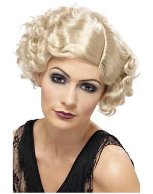 Blonde korte pruik met krullen