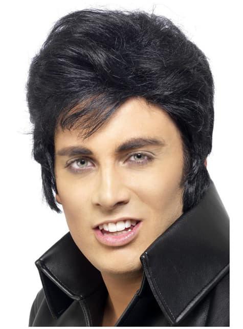 Perruque noire d'Elvis