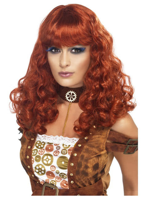 Naisten Steampunk kuparin värinen peruukki