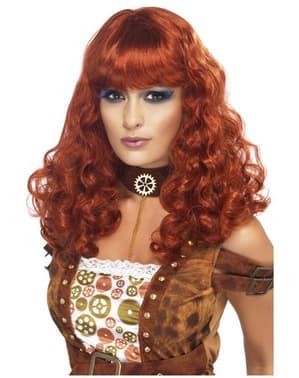 Parrucca da donna steampunk color bronzo