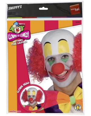 Perruque de clown au crâne rasé