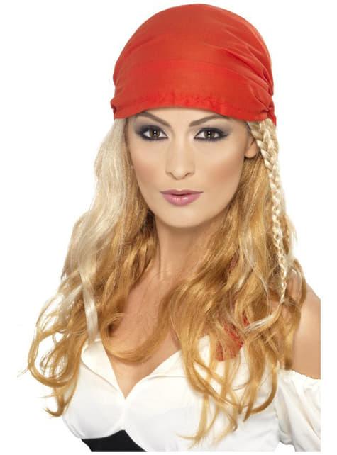 Blond Piratprinsesse Parykk