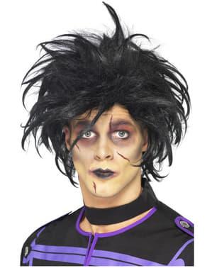 Parrucca nera da psicopatico