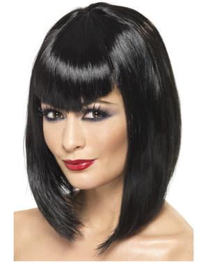 Vamp Black Wig