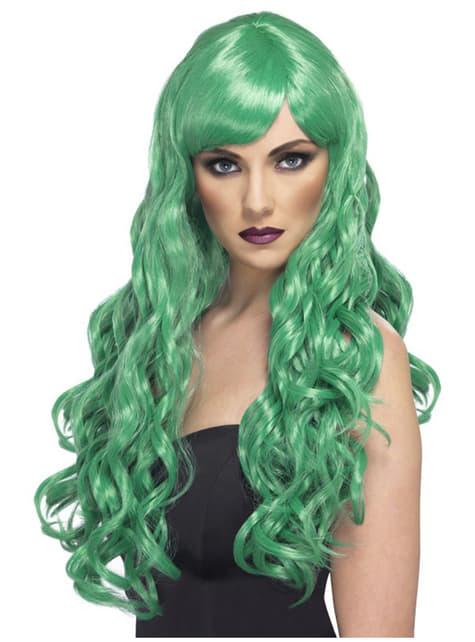 Дълга зелена перука