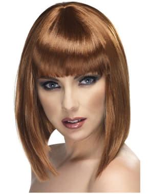 Perruque glamour courte et marron