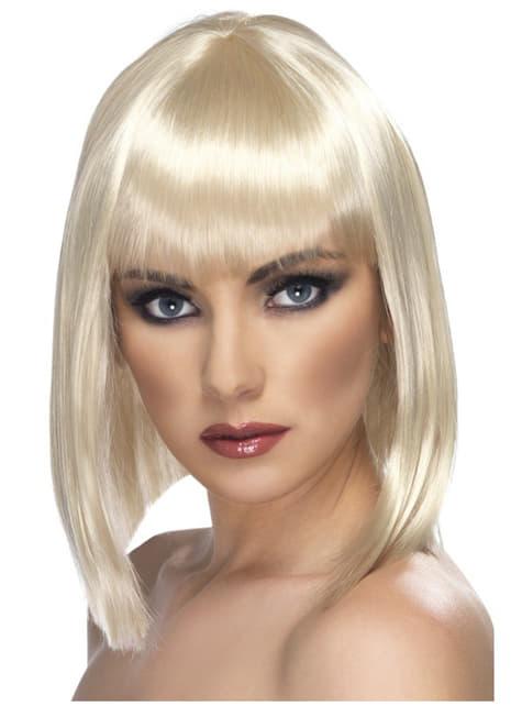 Γοητευτική ξανθιά σύντομη περούκα