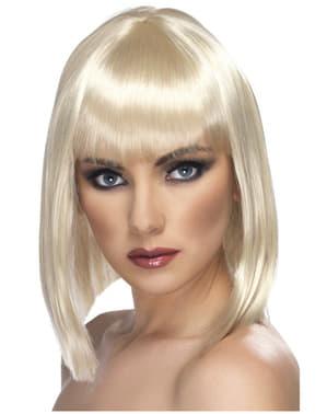 Glamourös peruk Blont kort hår