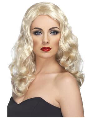 Glamourös peruk Blond
