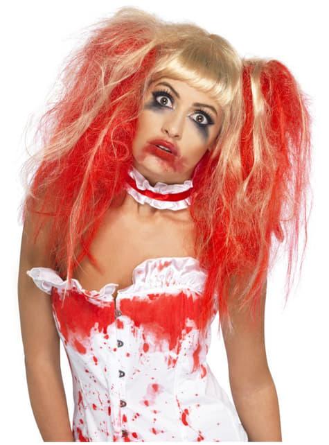 Blood Drip Blonde Wig