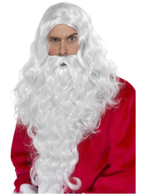 Peruka Święty Mikołaj długa