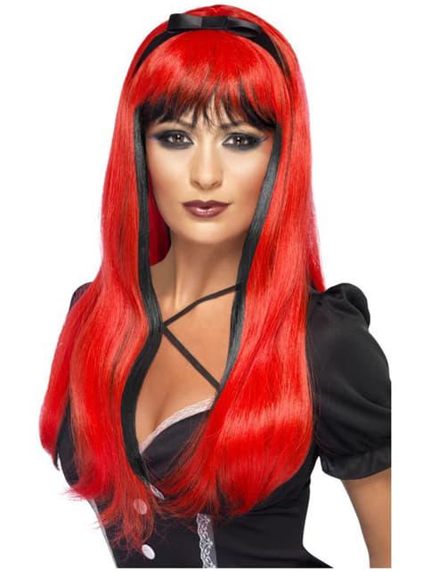 Περικνημμένη κόκκινη περούκα
