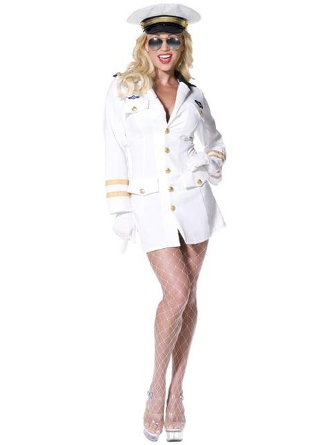 Top Gun tjenestemandskostume til kvinder
