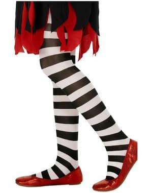 Lasten mustavalkoraidalliset sukkahousut