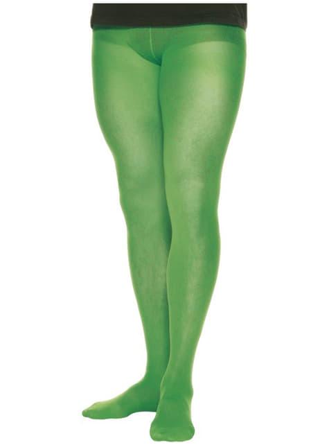 Collants verts pour homme