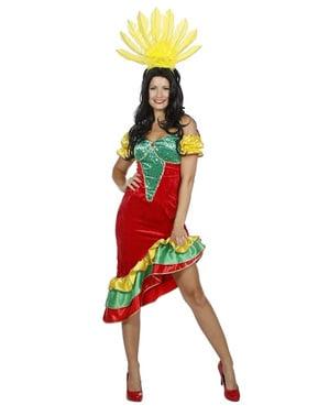 Samba kostuum voor vrouw