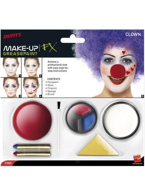 Set de maquillaje de payaso - ideas para disfrazarte