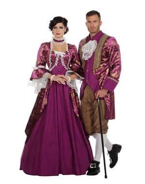 Paars markies kostuum voor mannen