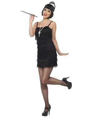 Hippe zwarte 20's jurk