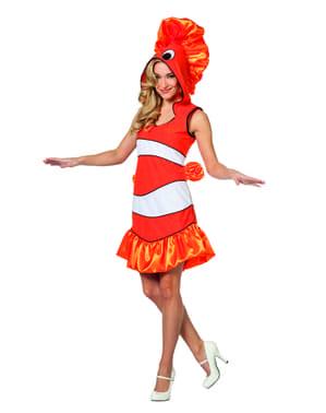 Tropischer Fisch Kostüm orange für Damen