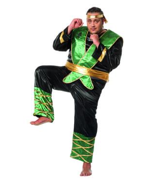 Grønt ninja kostyme til menn