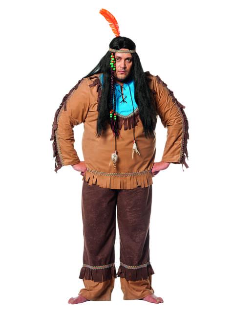 Indianer kostyme til mann
