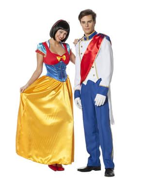 Klassisk blå prins kostyme til menn
