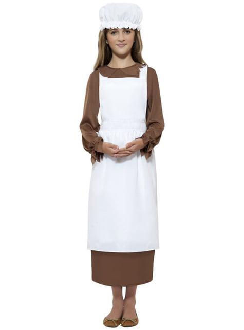 Zestaw Strój Wiktoriańska Służąca dla dziewczynek
