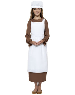 Kit disfraz sirvienta victoriana para niña