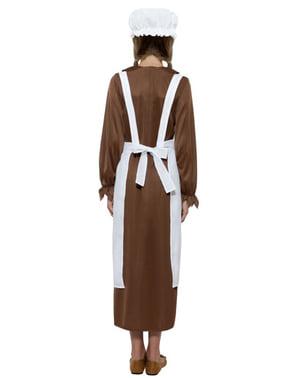 Viktoriansk Hushjelp Kostymesett til Jenter