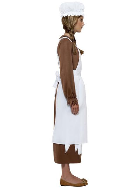 Kit déguisement domestique victorienne fille