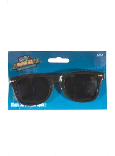 Jaren 50 stijl bril voor mannen