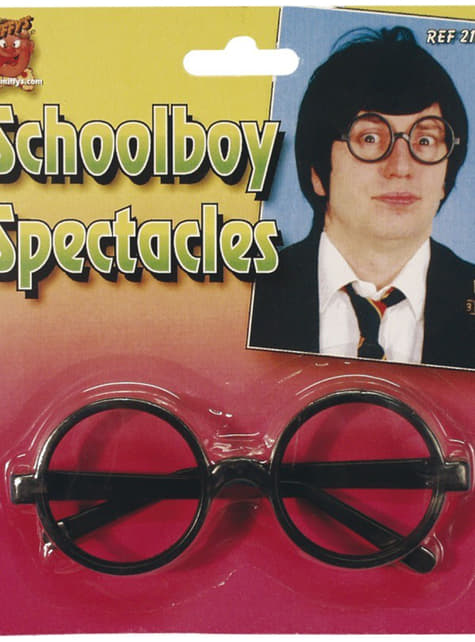 Gafas de escolar negras - para tu disfraz