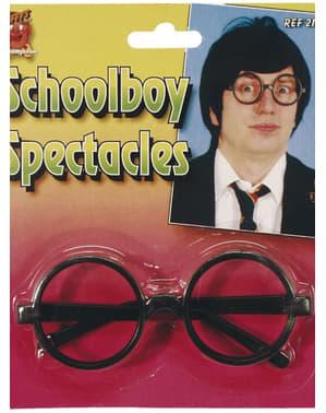 Skolpojke Glasögon Svarta