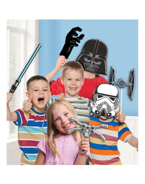 Kit olika accessoarer för Photocall Star Wars